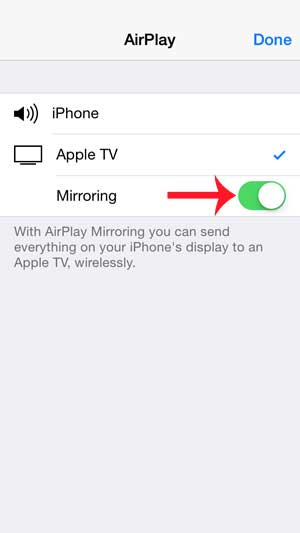 Airplay On iPhone 5